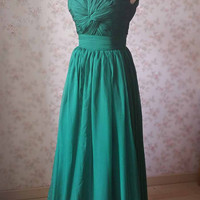 Dark Green Maxi Dress- Bridesmaid Dress Gowns for Wedding Party- Floor Length Dress- Aline Dress -Prom Dresses 2015 -Dress with lace-up