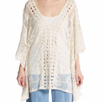 XCVI Serafina Embroidered Semi-Sheer Tunic