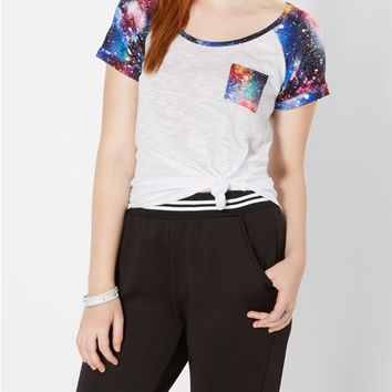Galactic Color Splattered Baseball Tee