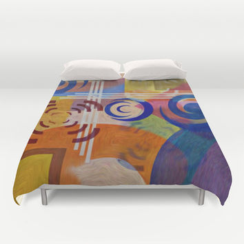 COLOR BLAST Duvet Cover by Robleedesigns