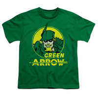 DC Comics Men's  Archer Circle T-shirt Green Rockabilia