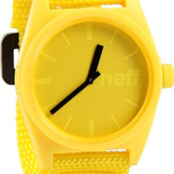 Neff Men's Daily Velcro Watch, NF0210, Yellow