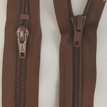 (Brown) Jumpsuit Zipper, 22""