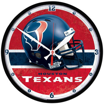 Houston Texans NFL Round Wall Clock