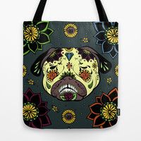 Calavera Paxicana Tote Bag by Huebucket