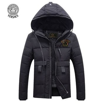 Versace Fashion Down Cardigan Jacket Coat Hoodie