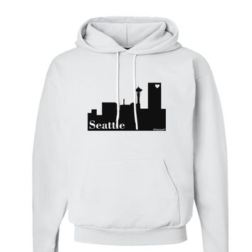 Seattle Skyline with Space Needle Hoodie Sweatshirt  by TooLoud