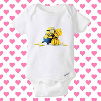Banana Minion Rush baby Onesuit, shirt baby Onesuit, baby Onesuit clothing