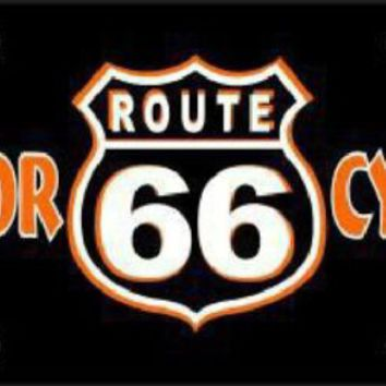 Motorcycles Route 66 Sign Tag