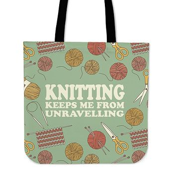 Adorable Unravelling Linen Tote Bag