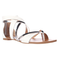 Steve Madden Honore Flat Gladiator Sandals - White