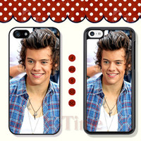 1D Harry styles one direction, iPhone 5 case iPhone 5c case iPhone 5s case iPhone 4 case iPhone 4s case, Samsung Galaxy S3 \S4 Case--X51010