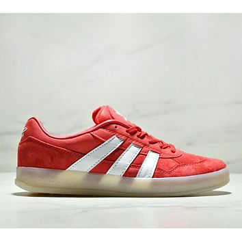 Adidas Skateboarding & Mark Gonzales Aloha Super Fashion New Stripe Leisure Sports Men Running Shoes Red