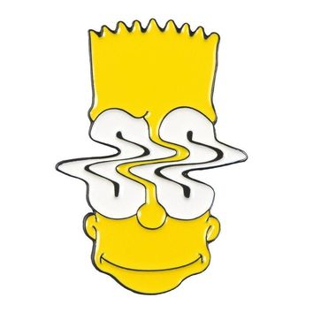 Free Wavy Bart The Simpsons Enamel Pin Just Pay Shipping