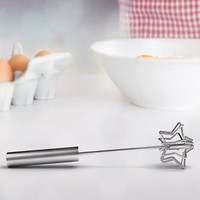 Mustard Magic Whisk Star Shape Hand Stir Mix Stainless Steel Cook Bake Gift Tool