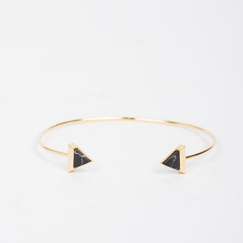 Marble Triangle Golden Bracelet