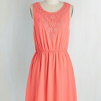 Mid-length Sleeveless A-line Glows On and On Dress