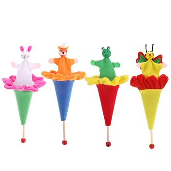Baby Retractable Hide & Seek Kids Funny Toy Animals Rabbits Fox Frog Bee Cute Animal Pretend Colorful Interactive Game Toy