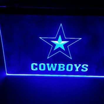 b-243 Dallas Cowboys beer bar pub club 3d signs LED Neon Light Sign man cave