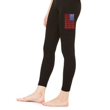 BEER PONG AMERICAN FLAG - LEGGING