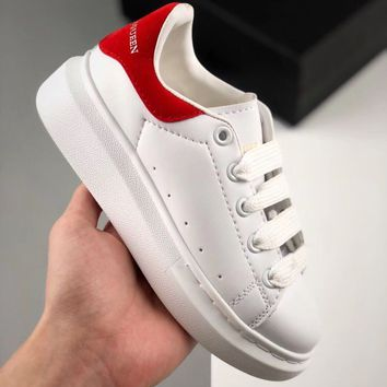 Alexander McQueen White Red Toddler Kid Shoes Child Sneakers - Best Deal Online