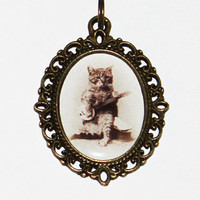 Banjo Cat Necklace