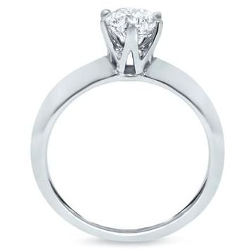 1/2ct Diamond Solitaire Engagement Ring Round Brilliant Cut 14K White Gold - Walmart.com