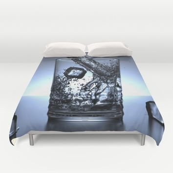 Glass of Water Duvet Cover by Mixed Imagery