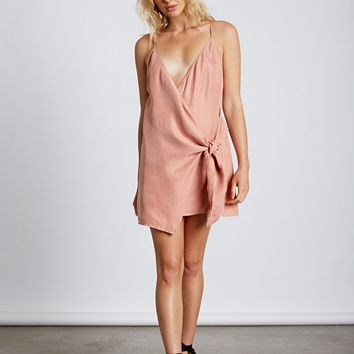 breathe wrap dress - dusty peach