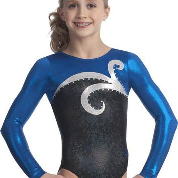 Black, Blue & Silver Leotard from GK Elite