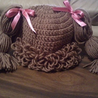 Cabbage Patch Wig (curly bang) Hat