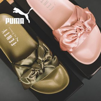 Puma X Fenty Bandana Bow Slide Sandals Shoes