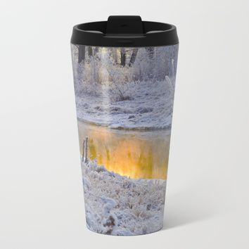 It's Gold Outside Metal Travel Mug by Mixed Imagery