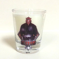 Star Wars Darth Maul Candle - Soy Shot Glass Candle - CHOICE OF SCENT