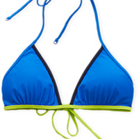 Aerie DIY Cha Cha Triangle Bikini Top , Deep Waters
