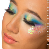Face Glitter in Iridescent Chunky