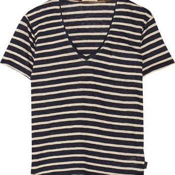 Burberry Brit - Striped slub linen-jersey T-shirt