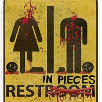 Forum Novelties Bloody Bathroom Restroom Door Sign, Multicolor
