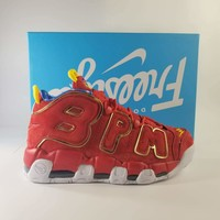 "Nike Air More Uptempo ""Charitable"" Red Sneaker"