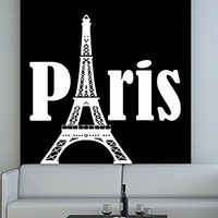 Wall Decal Vinyl Sticker Decals Art Decor Design Sign Paris Eiffel Tower City France Country Europe Living Room Bedroom C249