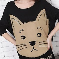 Cute Cat Sweater for Women PLQ435