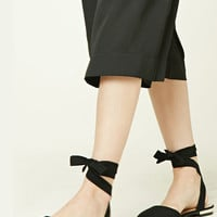 Strappy Faux Suede Flats