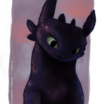 Toothless Art Print by tsunami-sand | Society6
