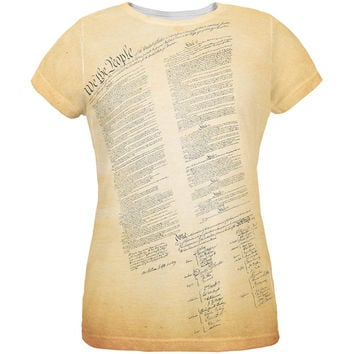 Constitution United States America All Over Womens T-Shirt