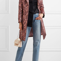 Etro - Metallic wool-blend jacquard coat