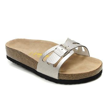 Birkenstock Molina Sandals Artificial Leather Silvers - Ready Stock