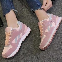 ICIKYE REEBOK Women Men Casual Running Sport Shoes Sneakers Pink