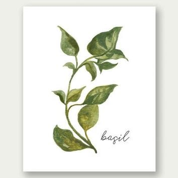 Herbs Printable Basil Wall Art Pr