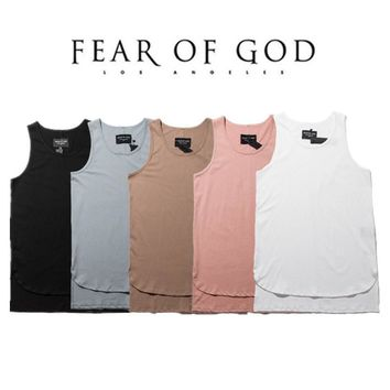 Fear Of God Vest Men 1:1 Solid Tank Tops