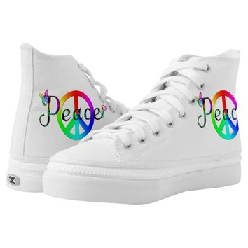 Peace Printed Shoes
